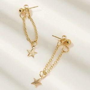 Star Decor Chain Drop Earrings